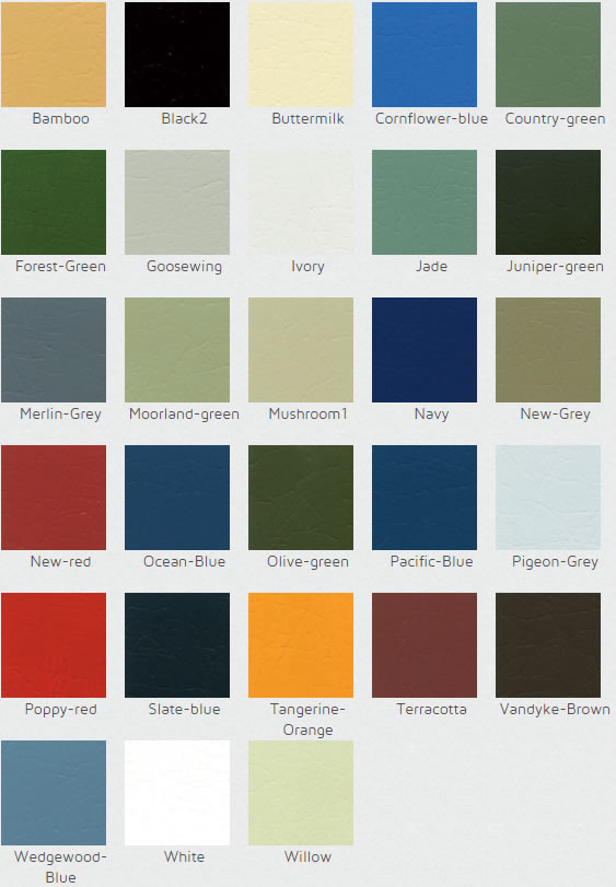 garage colour-chart