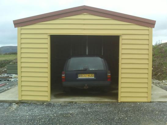 Steel Shiplap Garages